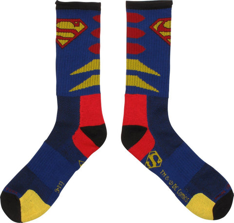 DC Comics Superman Logo Mens Blue Crew Socks [Misc.]