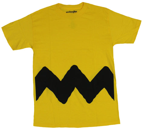 Peanuts Mens T-Shirt - Classic Charlie Brown Chevron Design Image