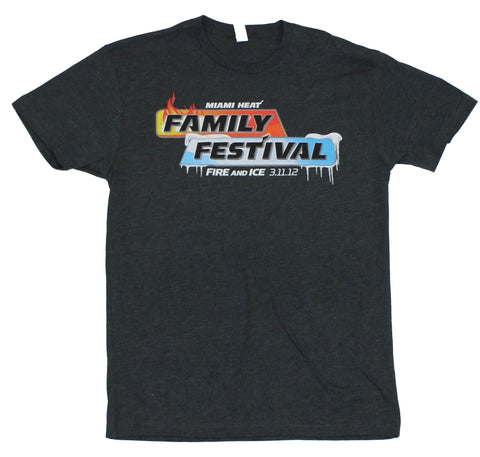 Miami Heat Mens T-Shirt  - Family Fire and Ice Festival 3-11-12