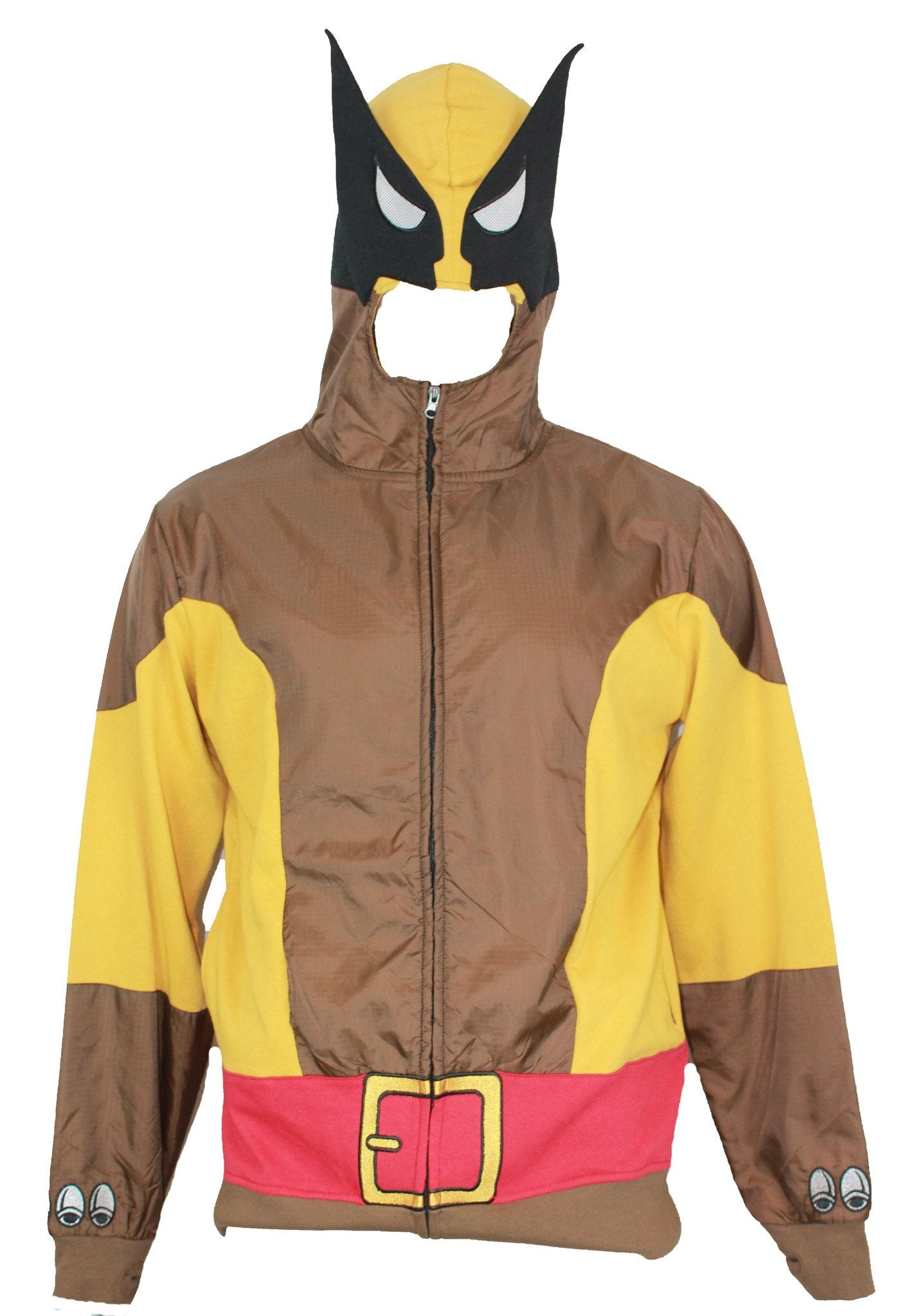 Wolverine (Marvel comics)  Mens Zip Up Hoodie Sweatshirt -  Tan Costume Style