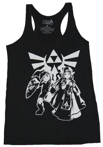Legend of Zelda Girls Juniors Tank Top - Link Between Worlds Happy Couple