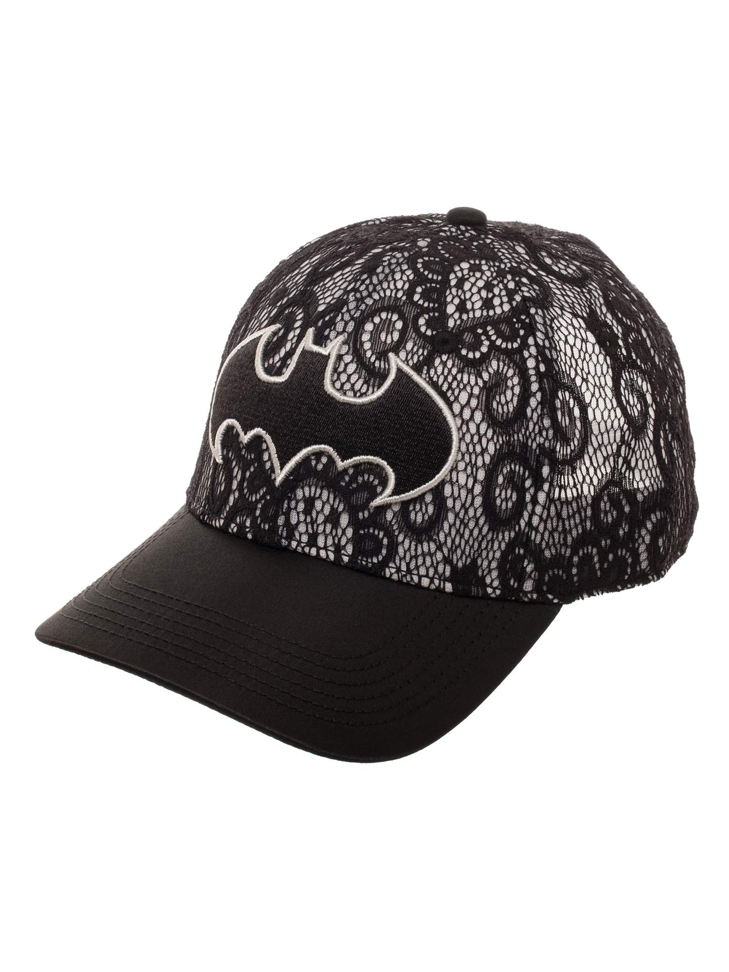 DC Comics Batman Women's Lace Baseball Hat with Curved Bill