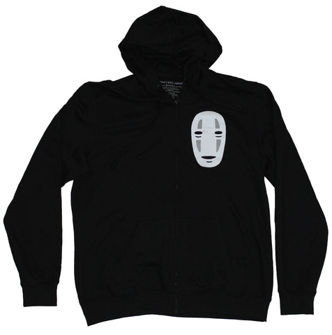 Spirited Away Zip Up Hoodie Sweatshirt - No Face Front Sitting Back Image