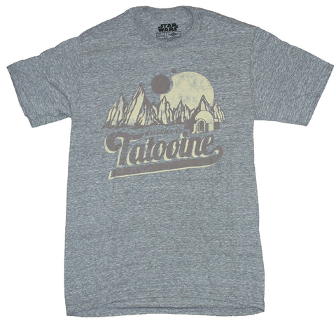 Star Wars  Mens T-Shirt - Welcome to Tatooine Postcard Image