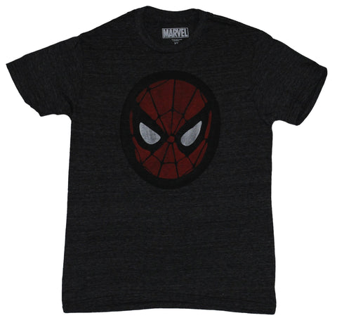 Spider-man (Marvel Comics) Mens T-Shirt - Black Outlined Simple Circle Logo