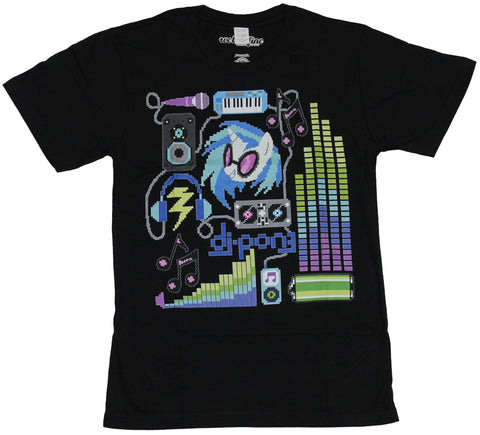 My Little Pony Mens T-Shirt  - Pixel Do Pon3 Musical Collage Image