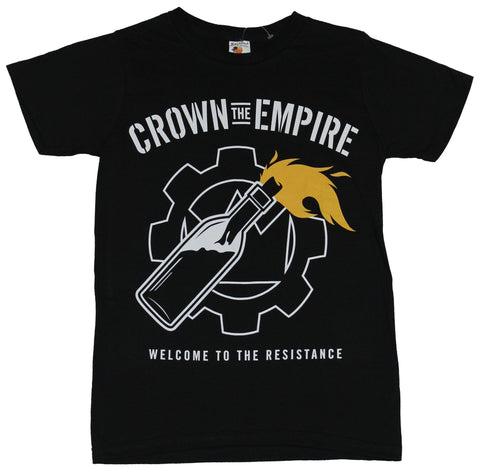 Crown the Empire Dog Mens T-Shirt - Welcome to the Resistance Molotov Cocktail