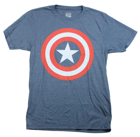 Captain America(Marvel Comics) Mens T-Shirt - Classic Shield Logo