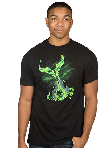 World Of Warcraft Mens T-Shirt - Legion Smokey Green Obelisk Image