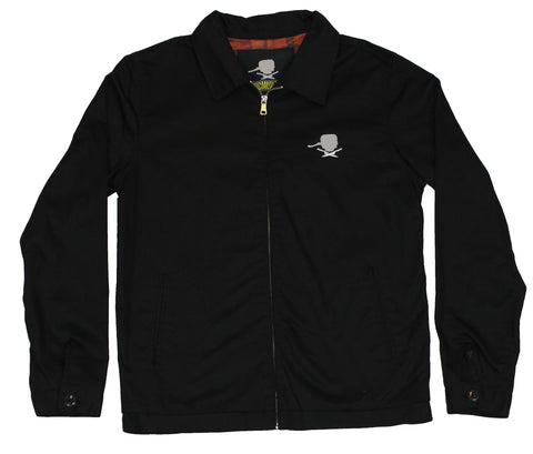 "Epic Meal Time Mens Work Style Jacket - ""Ball Cap Logo"" Bacon Strips"