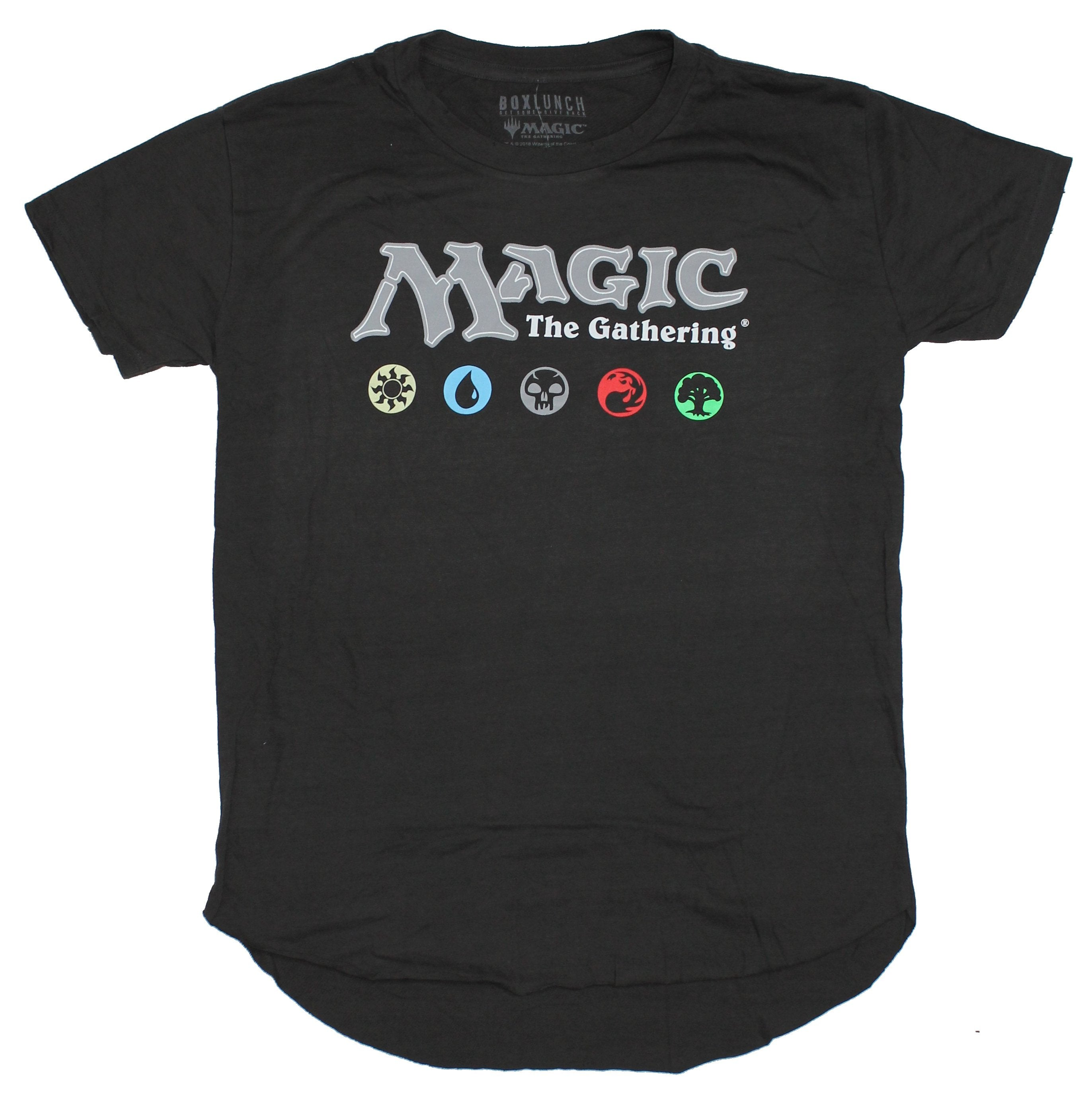 Magic the Gathering Super Distressed  Mens T-Shirt - Logo & Mana Image