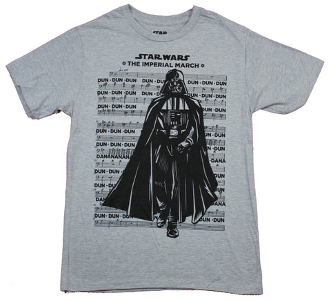 Star Wars Mens T-Shirt  - The Imperial March Darth Over Dun Dun Song