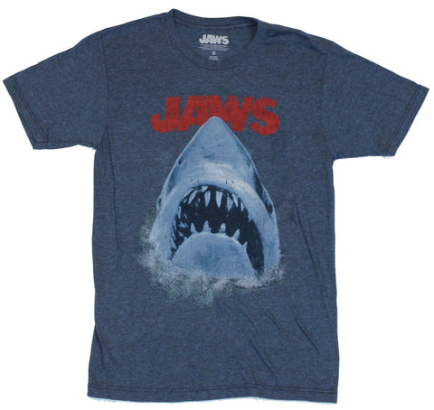 Jaws Mens T-Shirt - Classic Emerging Distressed Shark Image