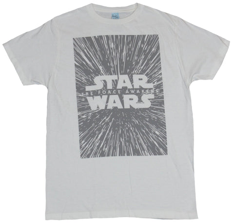 Star Wars Mens T-Shirt - The Force Awakens Gray Star Field Image