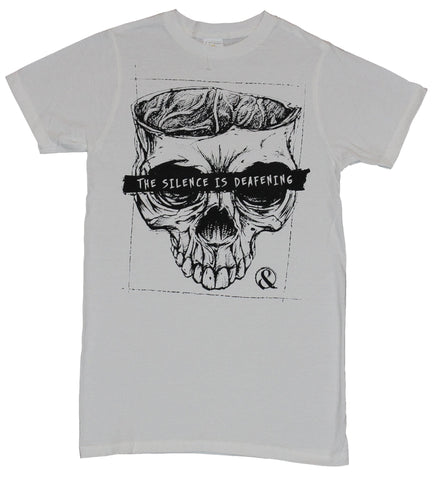 Of Mice and Men  Mens T-Shirt - The Silence is Deafening Skull Face