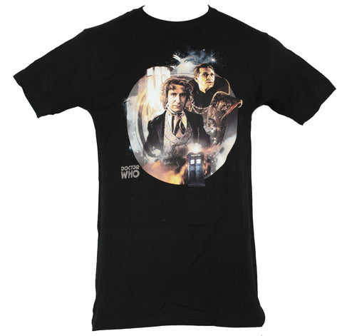 Doctor Who Mens T-Shirt - Tv Image Photo Collage of the Eighth (8th) Doctor