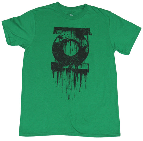 Green Lantern (Dc Comics) Mens T-Shirt - Dripping Black Society Logo Image