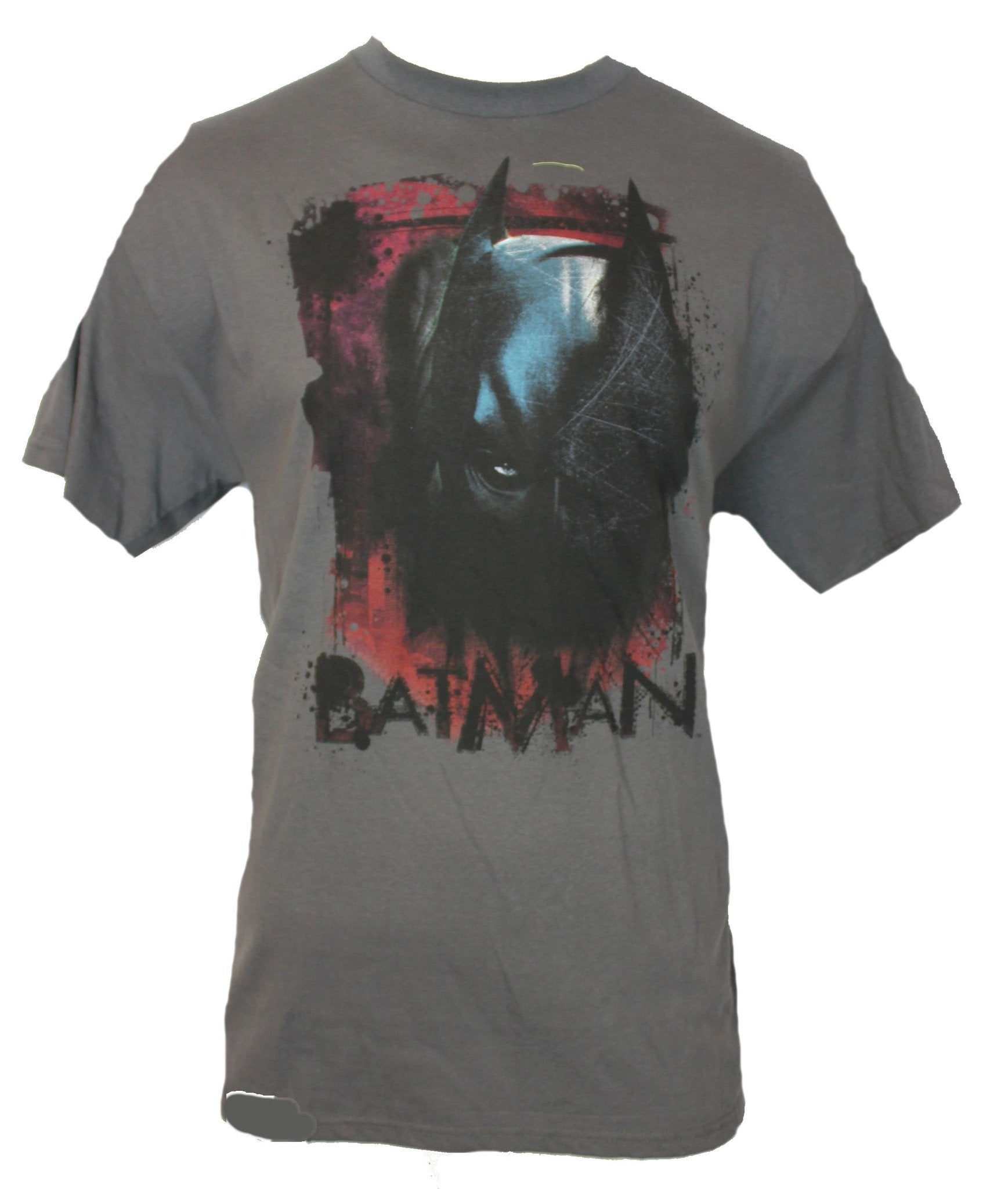 Batman (DC Comics)  Mens T-Shirt -  Splattered Sketchy One Peeping Eye Image