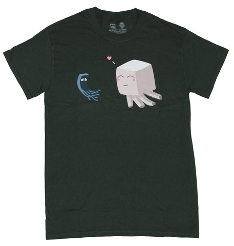 Minecraft Mens T-Shirt  - Ghast Loves Squid Chase Image