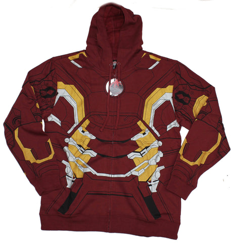 Iron Man Mens Zip Up Hoodie - Costume Image Age Of Ultron MARK 48