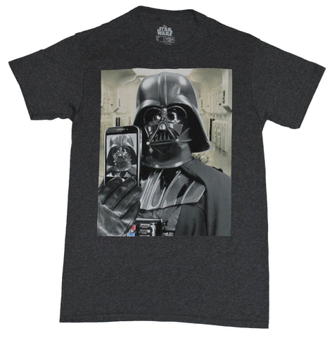 Star Wars  Mens T-Shirt - Darth Vader Taking a Selfie Photo Image