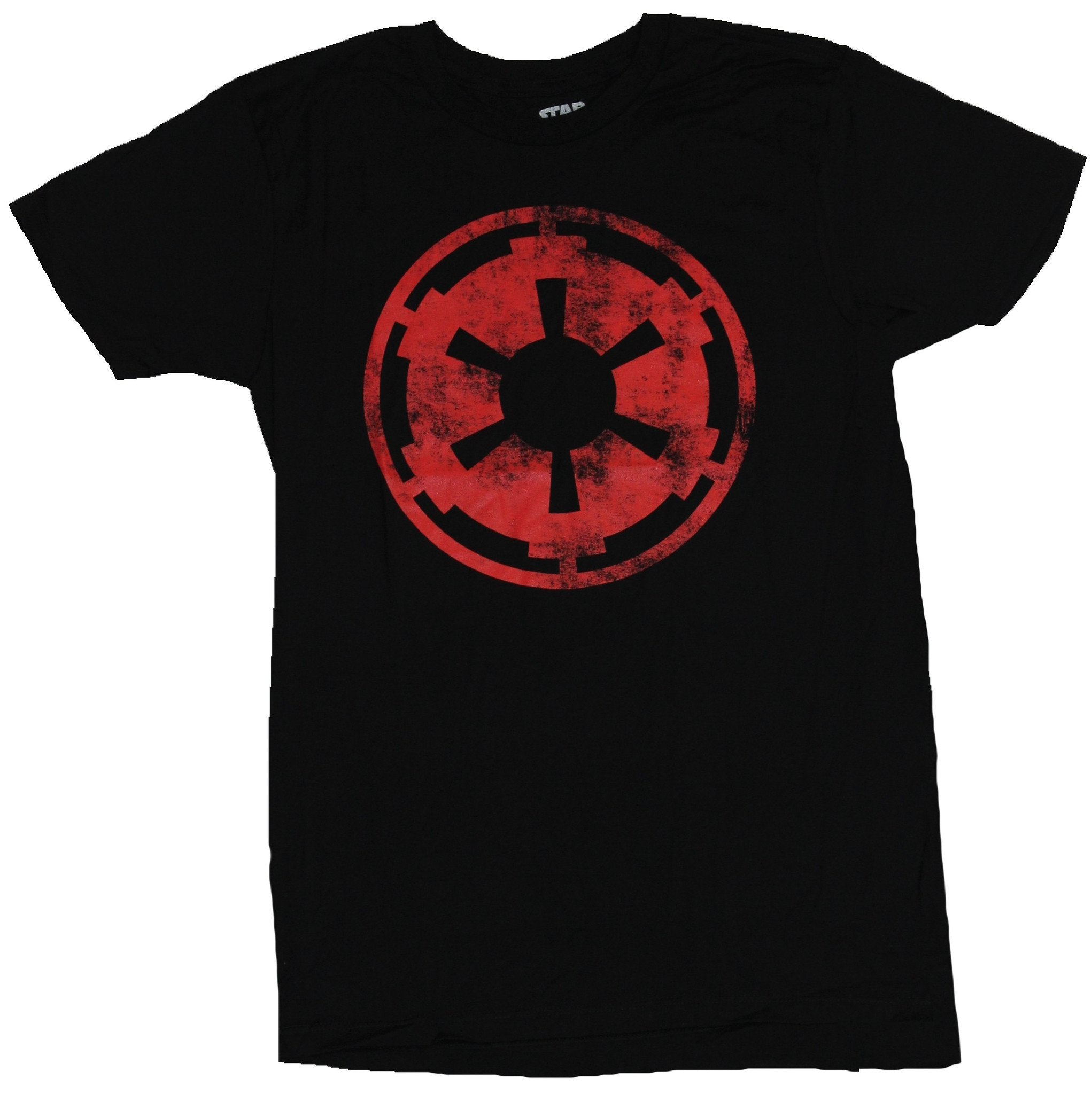 Star Wars Mens T-shirt - Distressed Red Empire Logo Image