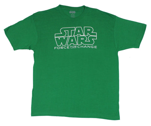 Star Wars Mens T-Shirt - A Force For Change Simple Logo Image