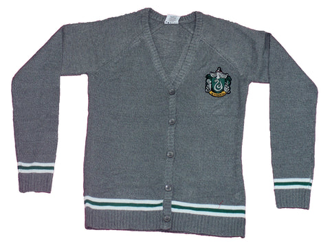 Harry Potter Girls Plus Size Cardigan - Slytherin House Crest