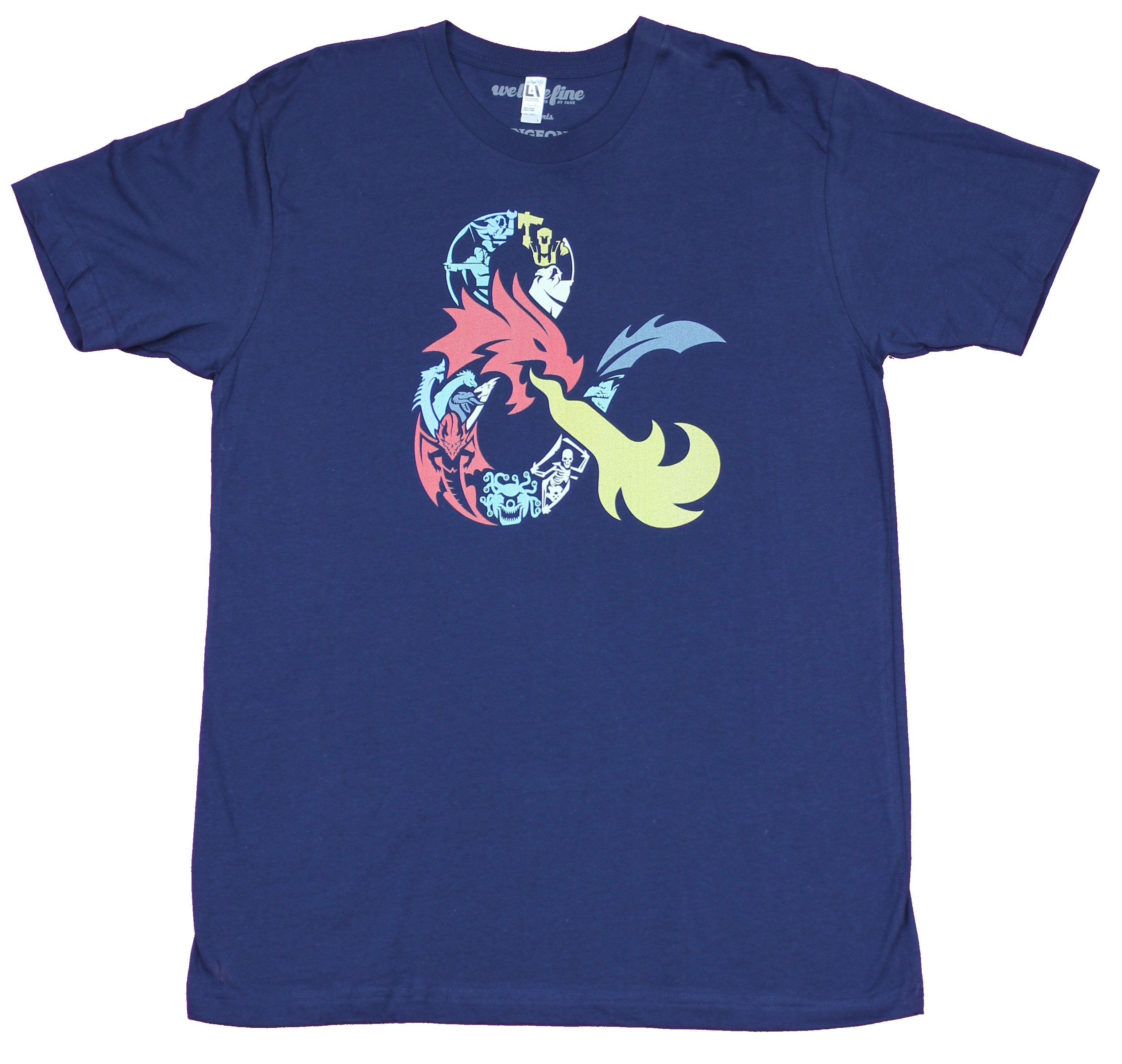 Dungeons & Dragons Mens T-Shirt - Ampersand Dragon Collage Image