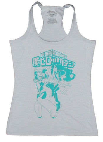 My Hero Academia Tank Top -  Froppy & Uravity Blue Print Under Logo