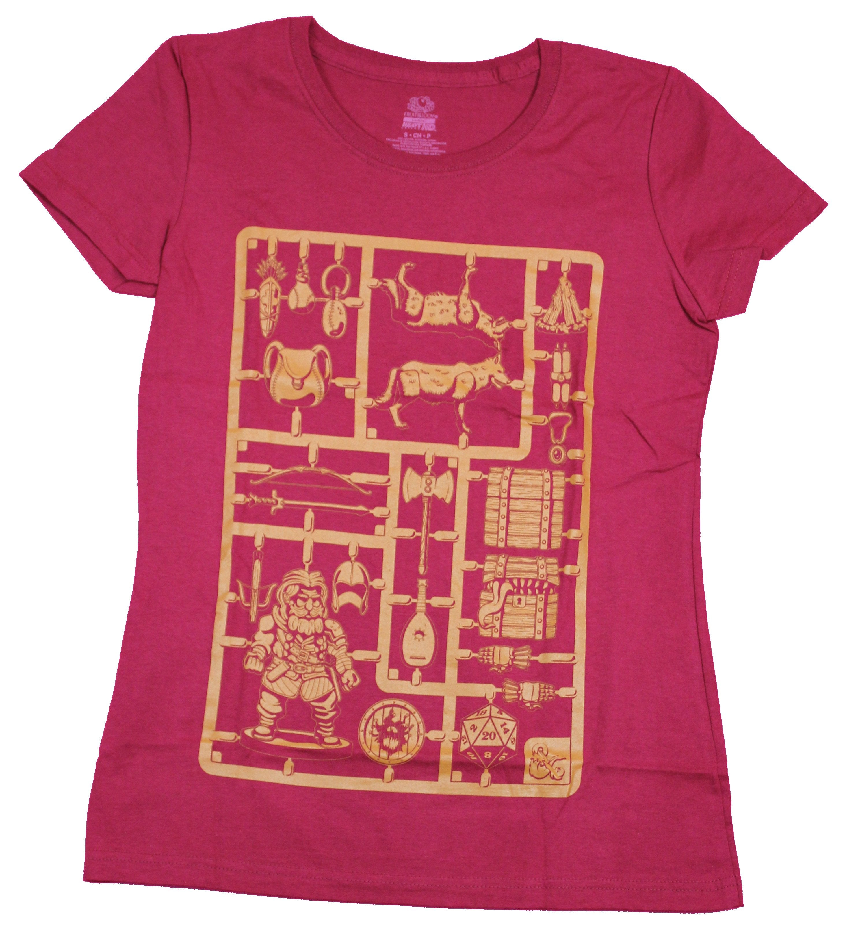 Dungeons & Dragons Girls Juniors T-Shirt- Pop Out Pieces Image