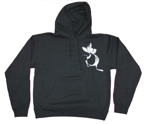 Pinky And The Brain Mens Zip Up Hoodie -  Are You Pondering What I'm ?