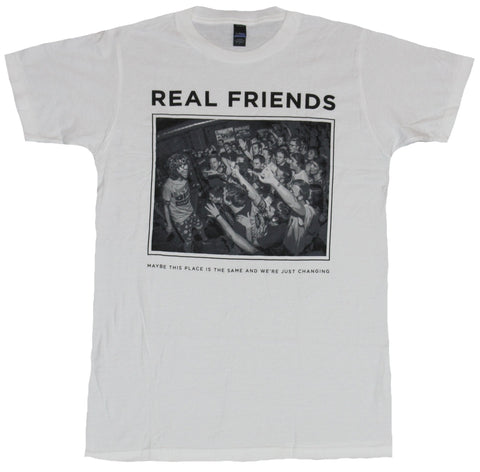 Real Friends Mens T-Shirt - Concert Crowd Maybe This Place is the Same