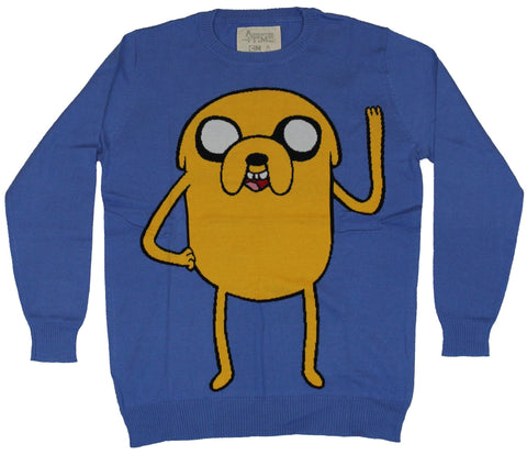 Adventure Time Mens Knit Sweater - Jake Wavy Hello Image