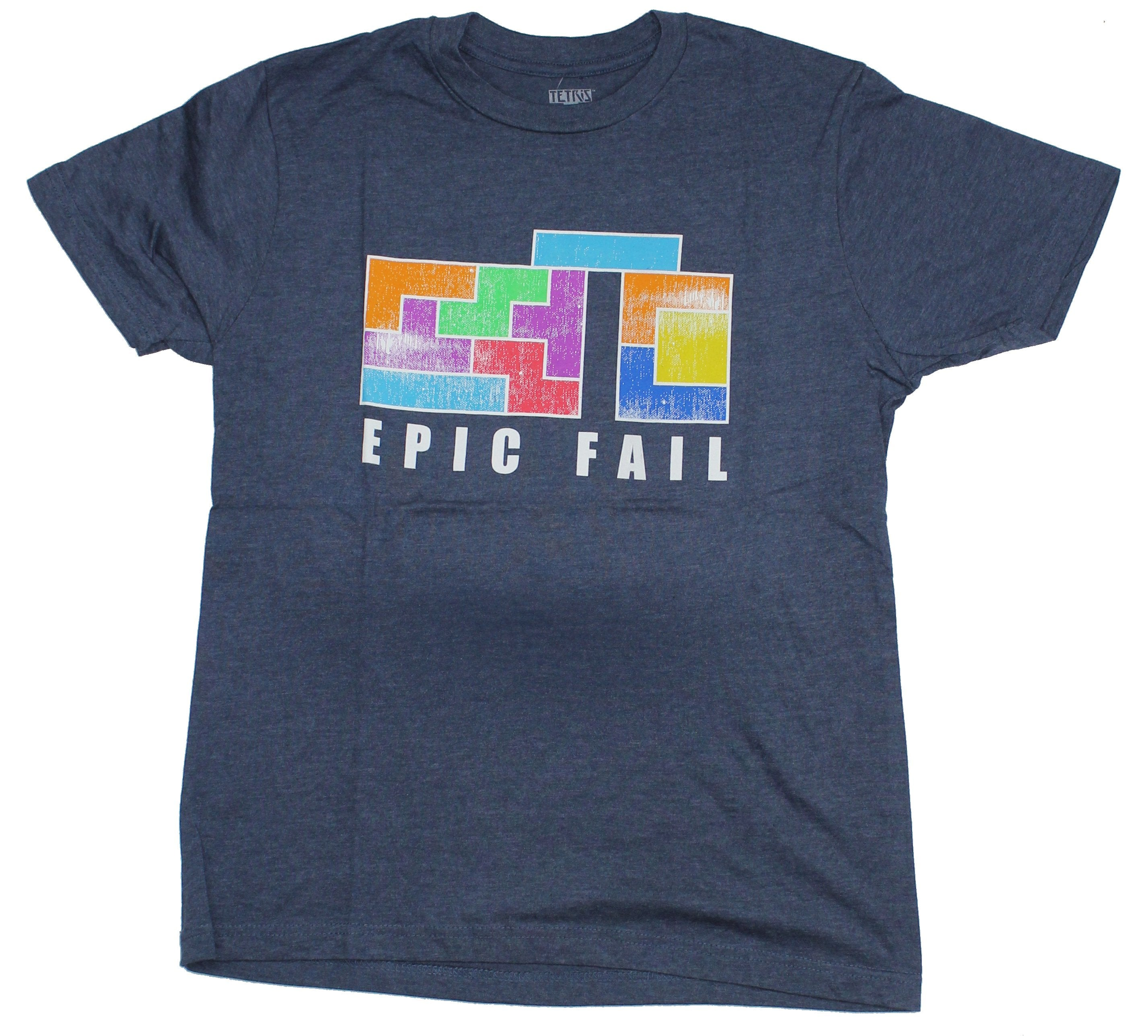 Tetris Mens T-Shirt - Epic Fail Long Piece Miss