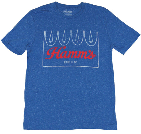 Hamm's Beer Mens T-Shirt - Distressed Classic Crown Logo Image
