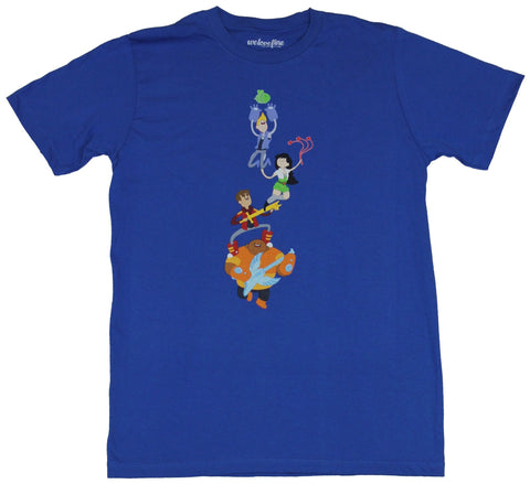 The Bravest Warriors Mens T-Shirt - Towering Team Stacked Image
