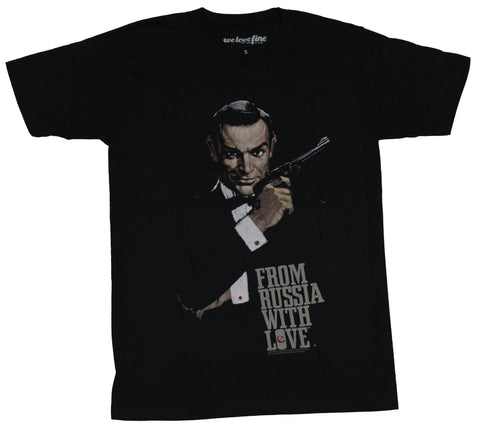 James Bond Mens T-Shirt -  From Russia With Love Distressed Poster Image