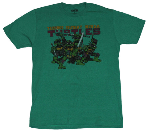 Teenage Mutant Ninja Turtles Mens T-Shirt - Original Eastman Laird Style Turtles