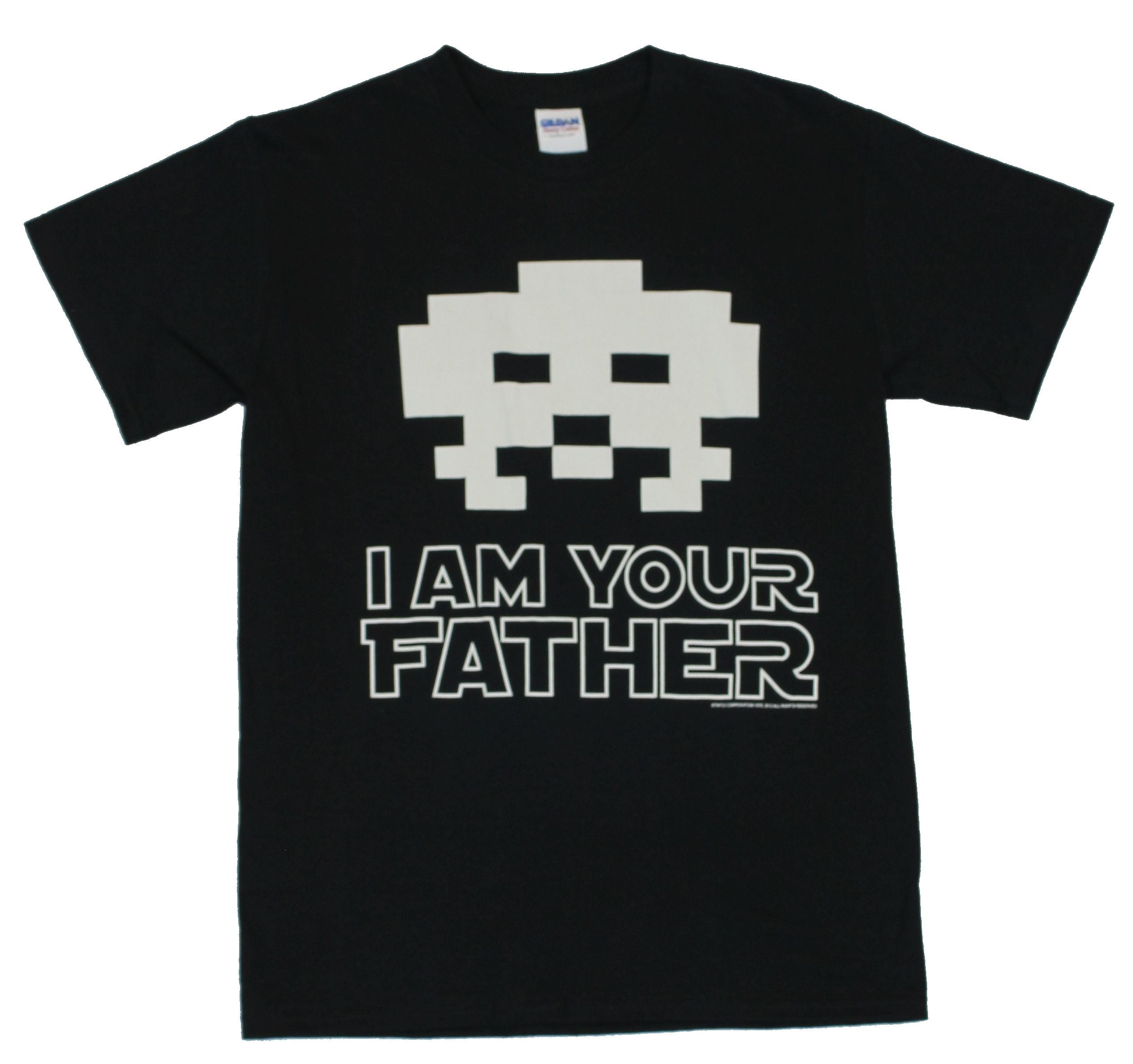 "Space Invaders Mens T-Shirt - ""I Am Your Father"" Classic Bad Guy Invader Image"