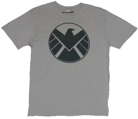 SHIELD (Marvel Comics) Mens T-Shirt - Classic Blocky Greenish Shield Logo Image