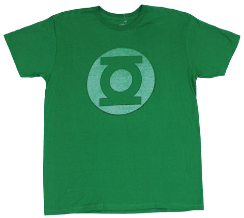 Green Lantern  Mens T-Shirt -  Society Symbol Super Distressed Logo