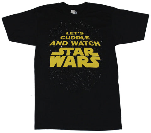 Star Wars Mens T-Shirt - Let's Cuddle and Watch Star Wars Image