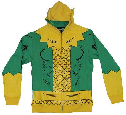 Thor (Marvel Comics) Loki Mens Hoodie Sweatshirt - Simple Loki Costume W/ Horns