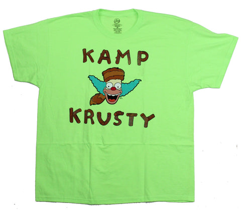 The Simpsons Mens T-Shirt - Kamp Krusty Cartoon Logo Image