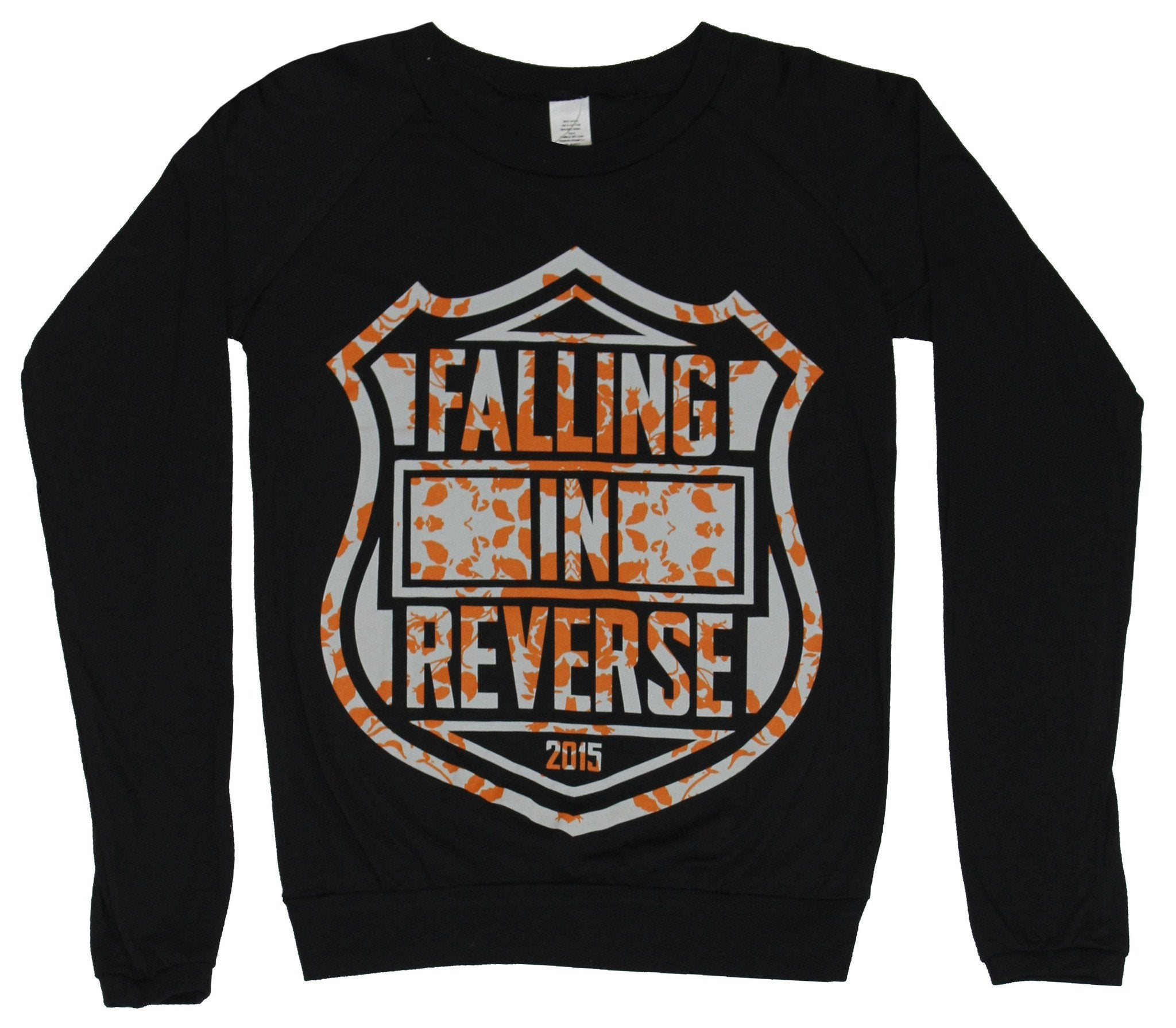 Falling In Reverse Girls Juniors Light Sweatshirt - Harley Style Name Logo