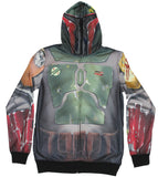 Star Wars Mens Hoodie Sweatshirt - Sublimation Style Boba Fett Costume Front