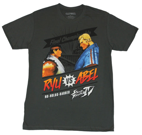 "Street Fighter IV Mens T-Shirt - Final Championship ""Ryu vs Abel"" Image"