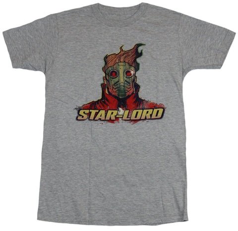 Guardians of the Galaxy Mens T-Shirt - Star Lord Colorful Image Over Name