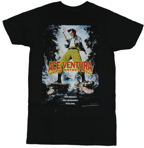 Ace Ventura Mens T-Shirt - When Nature Calls Movie Poster Image